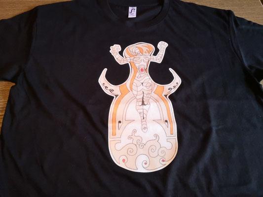 Handzeichnung für T-Shirt mit Druck im ART-DEKO-Stil