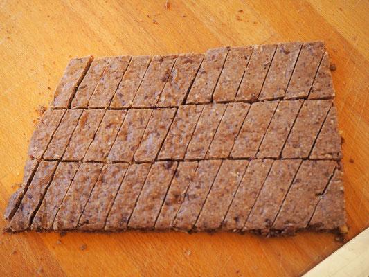 Schokolade- Haselnuss Stangen