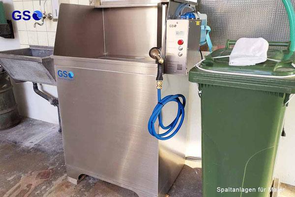 GSHG +  Schlammcontainer  / Splatanlagen Halbautomat Gross