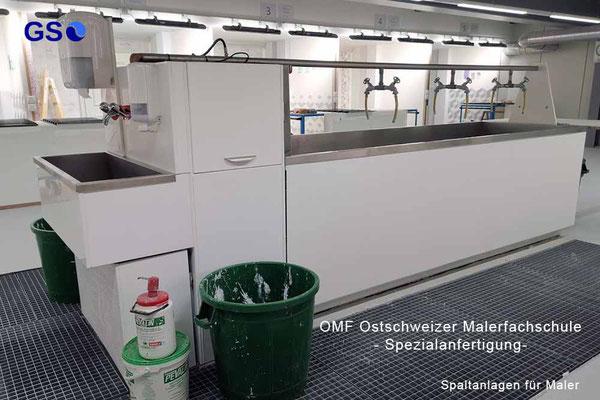 OMF Ostschweizer Malerfachschule - Spezialanfertigung-