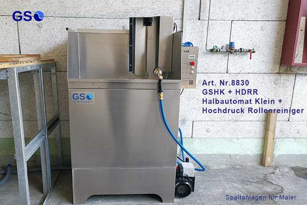 GSHK + HDRR GS Spaltanlagen Halbautomat Klein mit Hochdruck Rollenreiniger