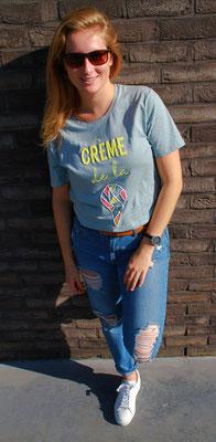 Hola Couture - Crème sunny t-shirt