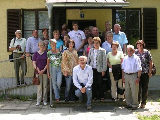 Bei der Verabschiedung bedankte sich auch Gruppenleiter Horst Wallner sehr herzlich bei Dr. Hans Knabe, Ursula Mangold und Verena Spitzer für die Führung und die vielen interessanten Erläuterungen.
