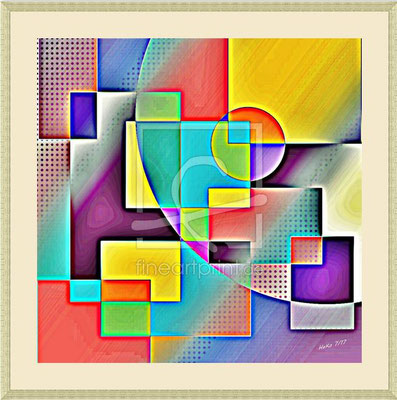 Bild mit Rahmen und Passepartout, 60x60 cm, Preis CHF 330.-