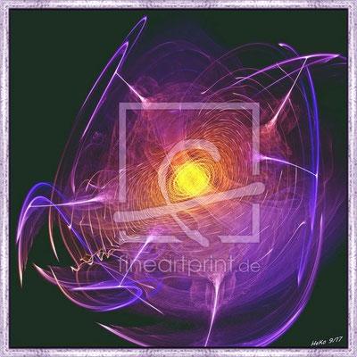 Bild auf Alu mit Schattenfugenrahmen, 60x 60 cm, Preis CHF 630.-