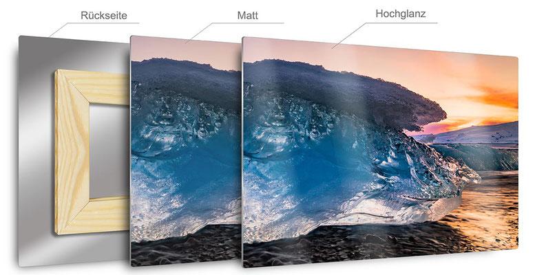 Hier sehen Sie das Verfahren eines Bildes auf Metall. Manchmal spricht das Bild für sich und die reine Schlichtheit überzeugt!