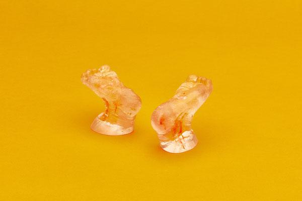 Abdrücke der Füße