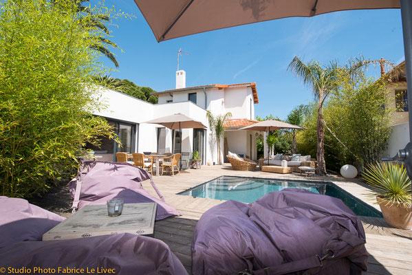 Photo immobilière terrasse villa Saint Cyr sur Mer