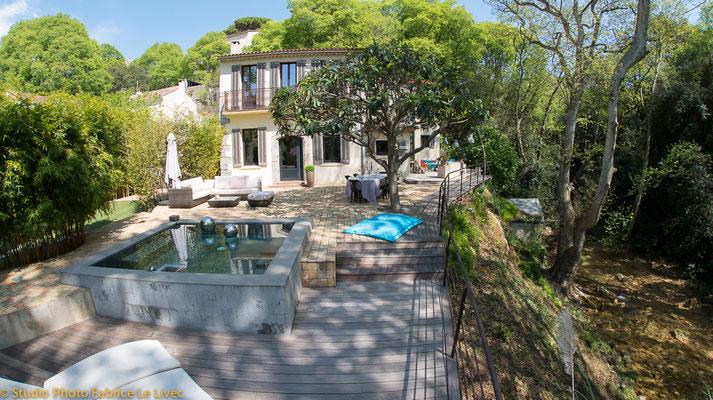 Photo immobilière d'une villa au Revest, près de Toulon.