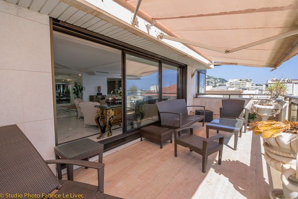 Photo immobilière, Terrasse appartemement Cannes Croisette