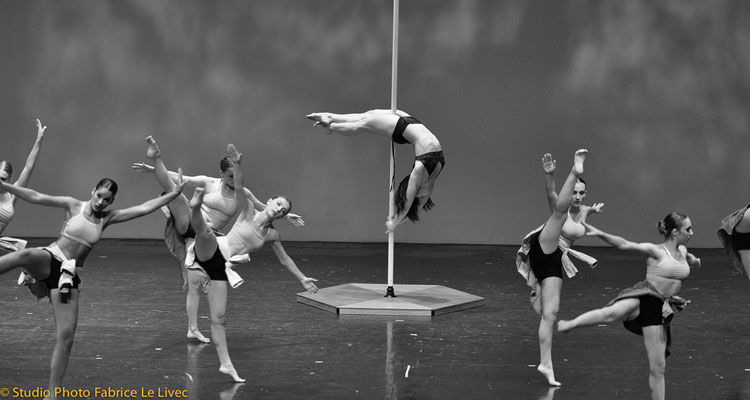 Photo spectacle de Pole Dance à Toulon au palais Neptune