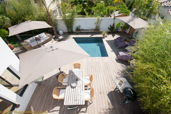 Photo immobilière par Vue aérienne d'une Villa a Saint Cyr sur Mer