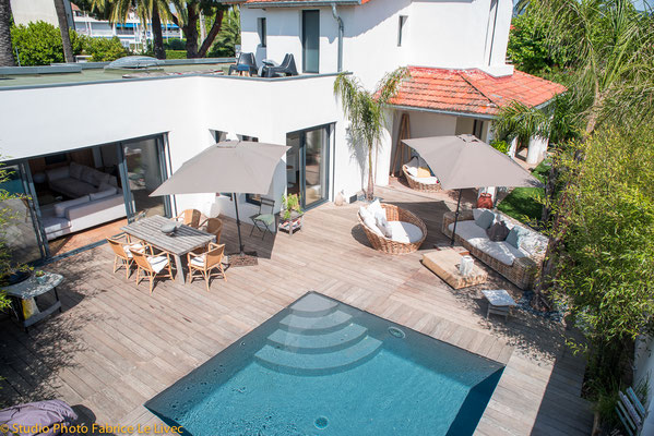 Photo immobilière par Vue aérienne d'une Villa à Saint Cyr sur Mer