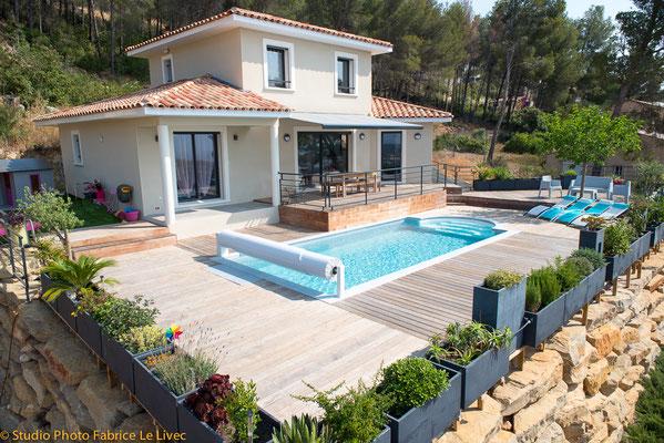 Photo immobilière par Vue aérienne d'une Villa à Toulon pour Maisons Vertes du Var