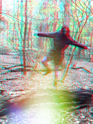 Selfportrait in the forest 3-D
