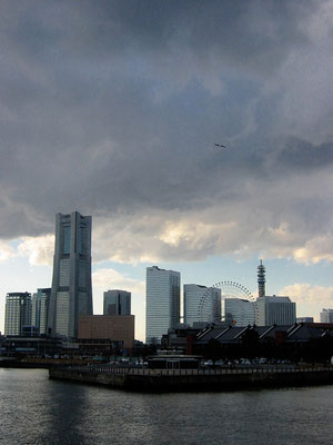 Yokohama Japan, view from the port