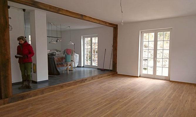 modern wohnen im neu gebauten Bauernhaus