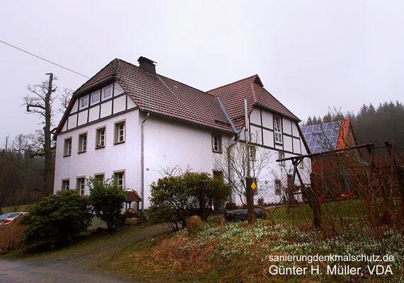 Bauernhaus mit neu geplantem Anbau