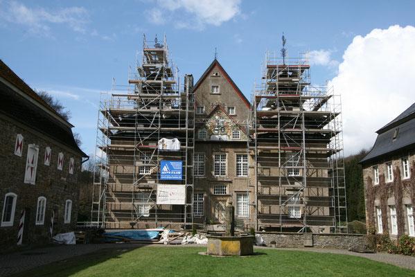 Sanierung eines Baudenkmals im Rahmen der Denkmalpflege: Schloss Neuenhof