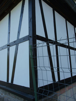 Fachwerkhaus saniert mit vorgefertigten Fachwerkelementen