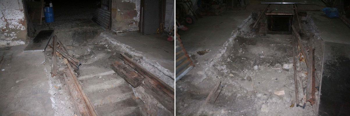 Ein Trümmerfeld. Außer der Treppe und den Außenwändcen muss fast alles weg.