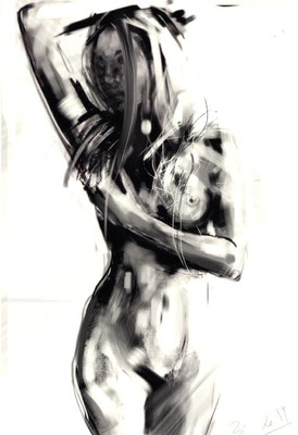 NUDE SERIES, sketch 2014