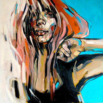 RED HAIR, 100x100cm, 2015