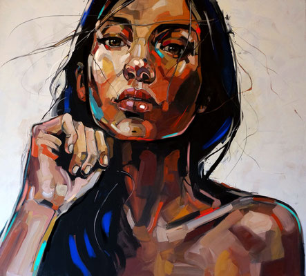 MAOKONG series 100x110cm, oil on canvas