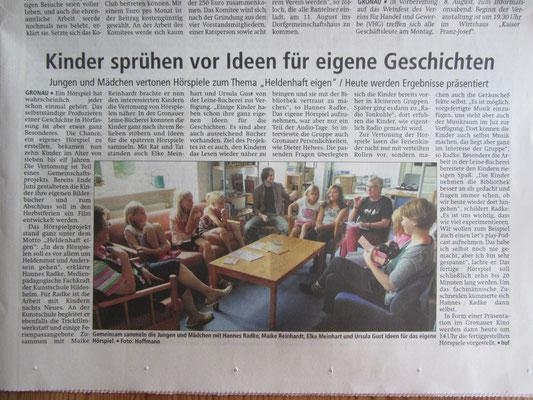 """""""Heldenprojekt"""" in Zussammenaarbeit mit dem JUZ und dem KulturKreis Gronau"""
