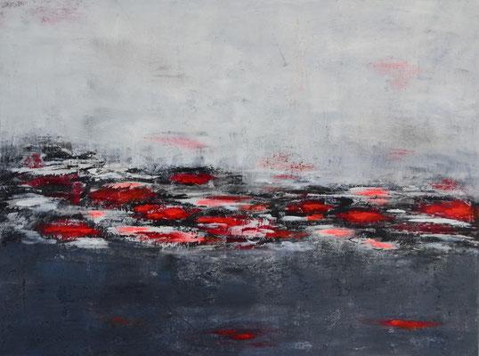 """Fog"" 80 x 60 Acryl/Struktur auf Leinwand"