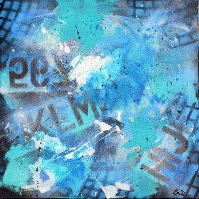 Graffiti I 50 x 50 Acryl/Spray