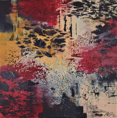 Savanne II  Acryl/ mixed media 50 x 50