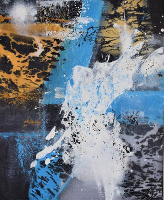 Savanne I Acryl/ mixed media 40 x 50