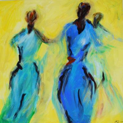 Tänzerinnen 50 x 50 Acryl auf Leinwand