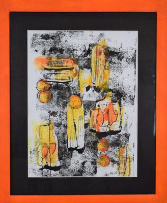 Euphoria 40 x 50 Acryldruck auf Papier gerahmt