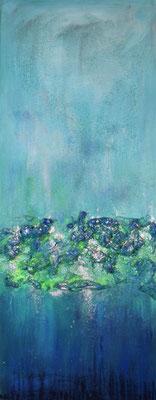 Farbenrausch 40 x 100 Acryl/ Bauschaum