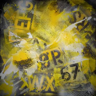 Graffiti II 50 x 50 Acryl/Spray