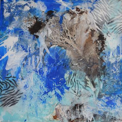 Wildlife II 80 x 80 Acryl/Collage mixed media