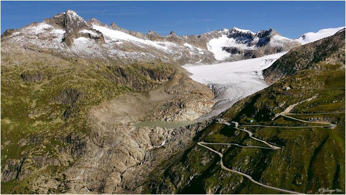 Blick zum Rhonegletscher 14.08.2017