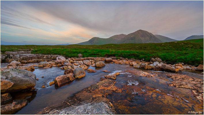 Glen Etive Gebirge Schottland