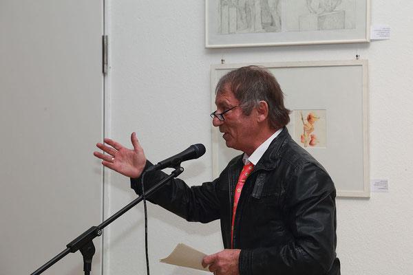Unser Vorsitzender Lothar Rafalski bei der Eröffnungsrede