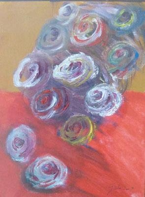 Rosa - Acryl, 18 x 24 cm
