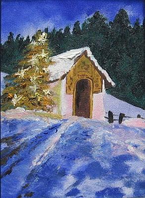 Winterlandschaft - 13 x 18 cm