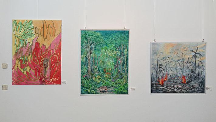 """Andreas Sames: """"Salomé-Motiv"""", Reinhold Wieczorek: """"Regenwald"""" und """"Das große Umweltproblem"""""""