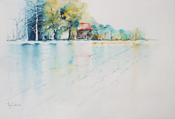 """Thumsee"", Aquarell"
