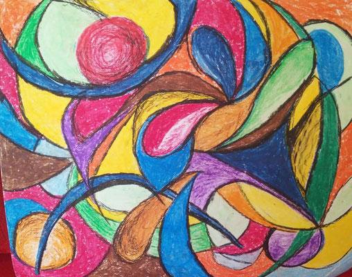 Bewegung 3 - Stift, 26 x 30 cm