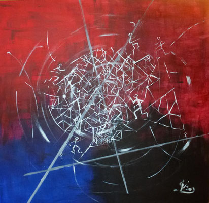 Network - Acryl, 100 x 100 cm