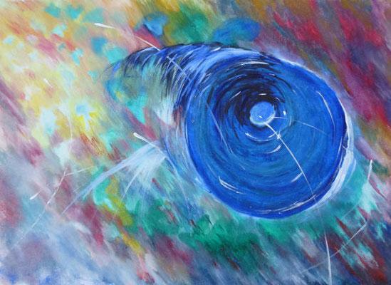 Loch 1 - Acryl, 70 x 50 cm
