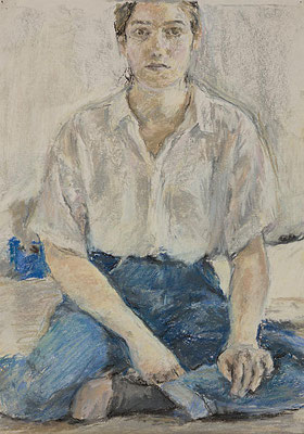 Selbstporträt - Pastell, 21 x 30 cm, 2011