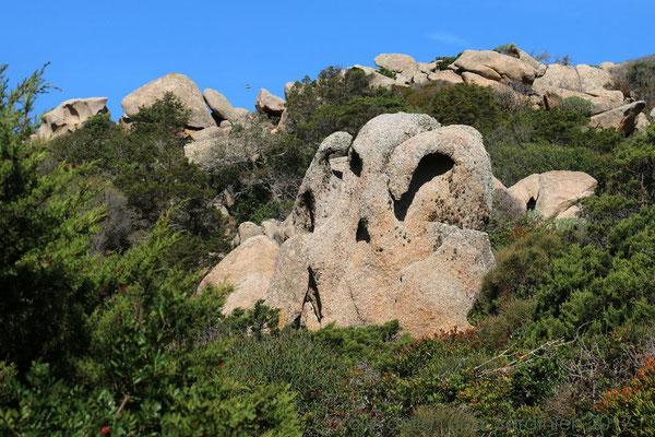 Aber erst einmal staunen wir über die ersten Felsformationen